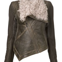 Isabel Benenato draped shearling jacket