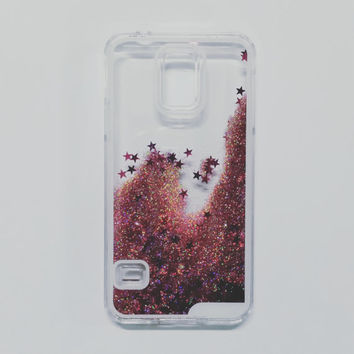 The LIQUID GLITTER Case - PINK holographic - Samsung Galaxy S5