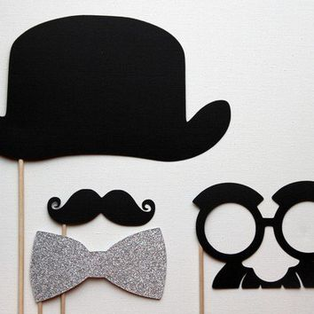 Photobooth Props. Circus Photo Booth Props. Wedding Photos. Charlie Chaplin. Groucho Marx