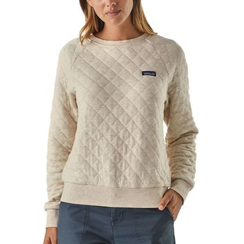 Organic Cotton Quilt Crew Sweatshirt - Women's