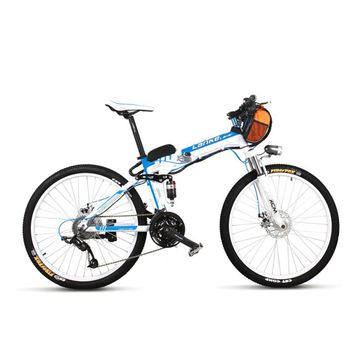 TX660D 500W 26'' Full Suspension Folding Electric Bike,Full Suspension, High Quality E Bicycle,Mountain Bike, 27 Speed E Bike