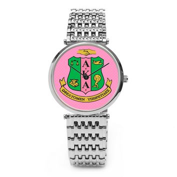Alpha Kappa Alpha Sorority Boyfriend Watch - Silver or Gold