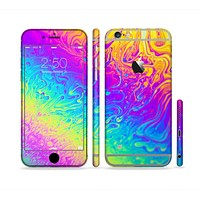 The Neon Color Fushion V2 Sectioned Skin Series for the Apple iPhone 6