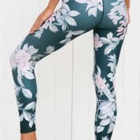 Sporty Floral Printed Leggings