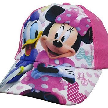 Disney Minnie Mouse And Daisy Duck Pink Baseball Cap - Girls Toddler