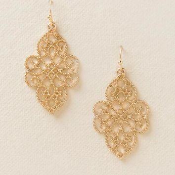 Maren Filigree Drop Earring