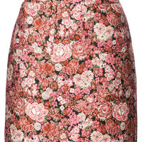Adam Lippes Floral Patterned Mini Skirt - Farfetch