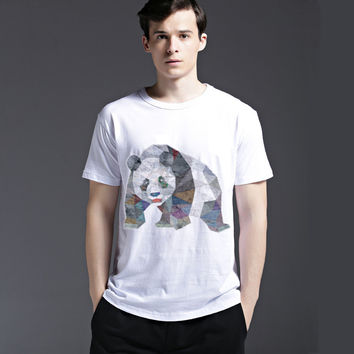 Creative Short Sleeve Pattern Cotton Tee Casual Cats Summer Men's Fashion T-shirts = 6450176643