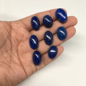 125.5 cts, 8 pcs, Natural Oval Shape Lapis Lazuli Cabochons @Afghanistan, Lot110