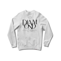 Parisian Crewneck Sweatshirt in White