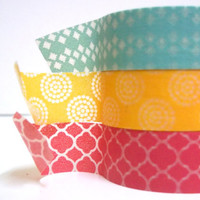 Washi tape set- Tropical punch