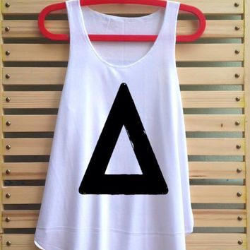 triangle shirt music tank top clothing vest tee tunic singlet loose fit shirt - size S M L