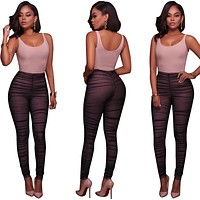 New Women Ladies Clubwear Sleeveless Patchwork Playsuit Bodycon Party Jumpsuit&Romper Trousers