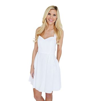 The Livingston Dress in White Seersucker by Lauren James - FINAL SALE