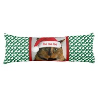 Cute Xmas Cat with Green White Polka Dot Hearts