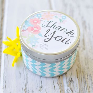 """""""Thank You"""" Custom Gift Soy Candle-You choose the scent"""
