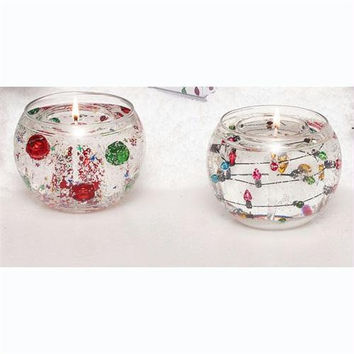 4 Christmas Gel Candles - Scented Gel Candles