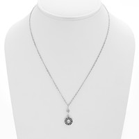 Dharmachakra Sterling Silver White Topaz Serenity Necklace