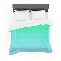 "Monika Strigel ""Blue Hawaiian"" Aqua Green Featherweight Duvet Cover"