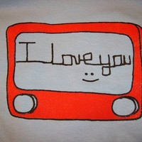 Etch A Sketch I LOVE YOU Graphic T Shirt by RockRiverTees on Etsy