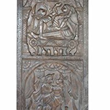 Vintage Carving Kamasutra Love Passion Desire Hand Carved Wall Sculpture, Barn Door Studio Eclectic Shabby Chic Decor