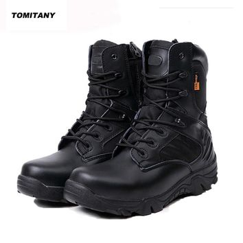 Men Tactical Military Soldier Sneakers Mens Climbing Trekking Hunting Walking Mountain Shoes Man Outdoor Hiking Boots