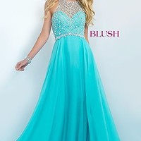 Long Illusion Back Prom Dress by Blush