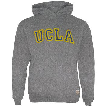 UCLA Bruins - Distressed Letters Logo Tri-Blend Adult Pullover Hoodie
