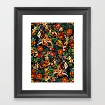 HERA and ZEUS Garden Framed Art Print by Burcu Korkmazyurek