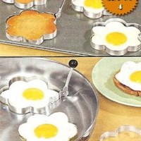 Amazon.com: STAINLESS STEEL FLOWER SHAPED EGG/PANCAKE SHAPERS - SET OF 4 (TAKE THE BORING OUT OF BREAKFAST!): Kitchen & Dining