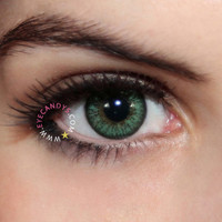 Royal vision love color green Circle Lenses Colored Contacts Cosmetic Color Circle Lens   EyeCandy's