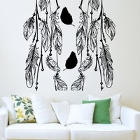 Dream Catcher Wall Decal Feathers Decals Vinil Sticker Nursery Bedroom Home Decor Ds362