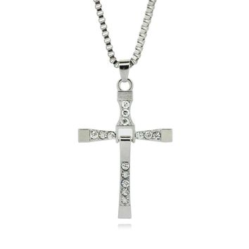 Heaven Titanium Steel Pendant Amulet Cross Necklace for Men's by Ritzy