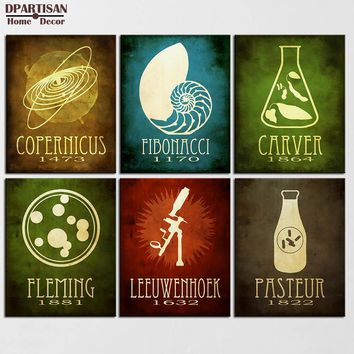 DPARTISAN Steampunk Posters And Prints Wall Art Canvas Painting Wall Pictures Science Geeky Nordic No Frame painting SP-13-18