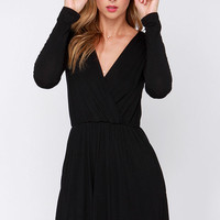 Alakazam Black Long Sleeve Dress