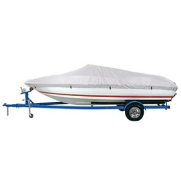 Dallas Manufacturing Co. Reflective Polyester Boat Cover A - Fits 14-16 V-Hull Fishing Boats - Beam Width to 68