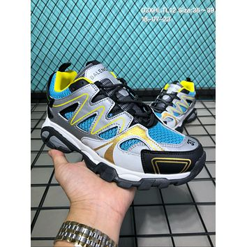 DCCK2 B023 Balenciaga 3.0 Sneaker Tess.s.Gomma Casual Running Shoes Sliver Yellow Blue