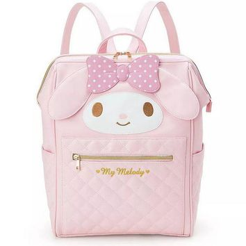 2017 news cartoon Genuine my melody women backpack High quality PU pink school bags High capacity backpack for girls