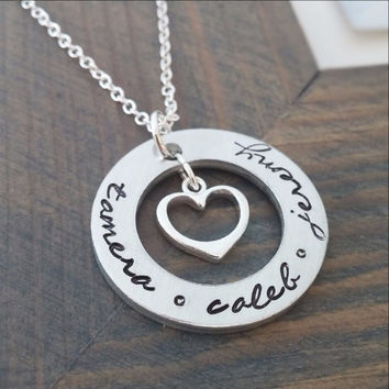 Gracefully Made Jewelry Personalized Necklace with Kids Names
