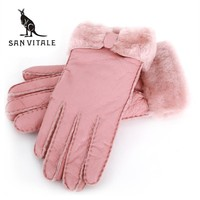 Fur and Sheepskin Leather Gloves