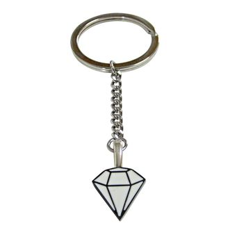 Diamond Outline Pendant Keychain