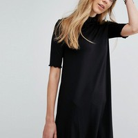 Pull&Bear Frill Sleeve Swing Dress at asos.com