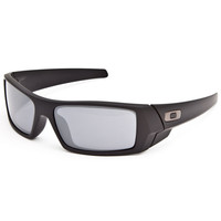 Oakley Gascan Sunglasses Matte Black/Black Iridium One Size For Men 24792718201