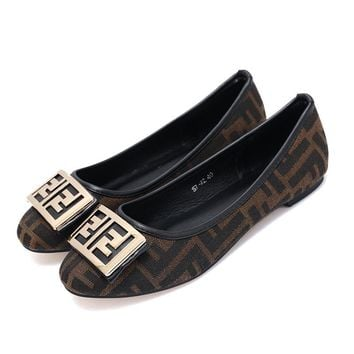 FENDI Women Fashion Slip-On Flats Shoes