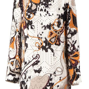 Emilio Pucci short studded crepe dress