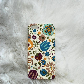 Colorful Flower iPhone 5 Case, Special Fabric design iPhone 5 Case,Kawaii iPhone 5 Case