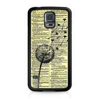 Dandelion On Vintage Dictionary Page Samsung Galaxy S5 case