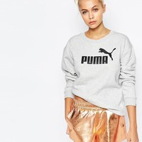 Puma | Puma Crew Neck Sweatshirt With Front Logo at ASOS