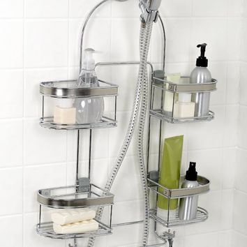 Zenna Home 7546NSP, Expandable Over-the-Showerhead Caddy, Chrome