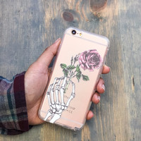 Crane Rose - Clear TPU Case Cover